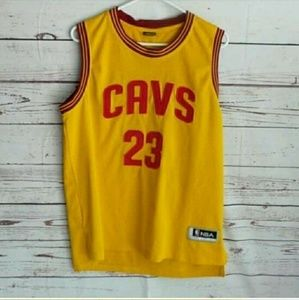 LeBron James 23 Cavaliers Gold Red Jersey 23 XL